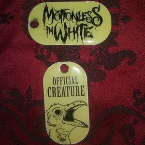 Two Motionless in White Creature Dogtags